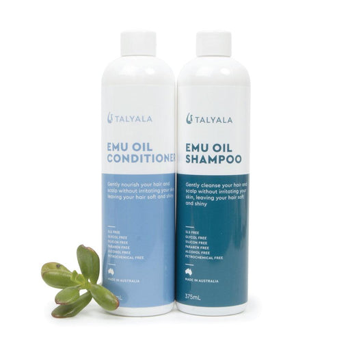 375ml Talyala Emu Oil Shampoo + Conditioner Set Sensitive Dry Eczema Psoriasis-Talyala-ozdingo