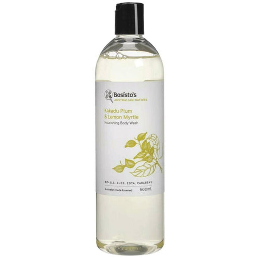 500ml Body Wash Kakadu Plum Lemon Myrtle Bosisto's Nourishing Soap Free Vegan-Bosisto's-ozdingo