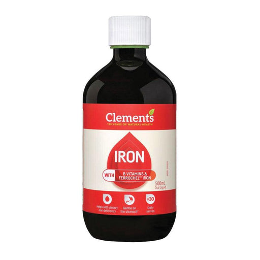 500ml Iron Oral Liquid Supplement Chelated Bisglycinate Ferrochel Clements-Clements-ozdingo