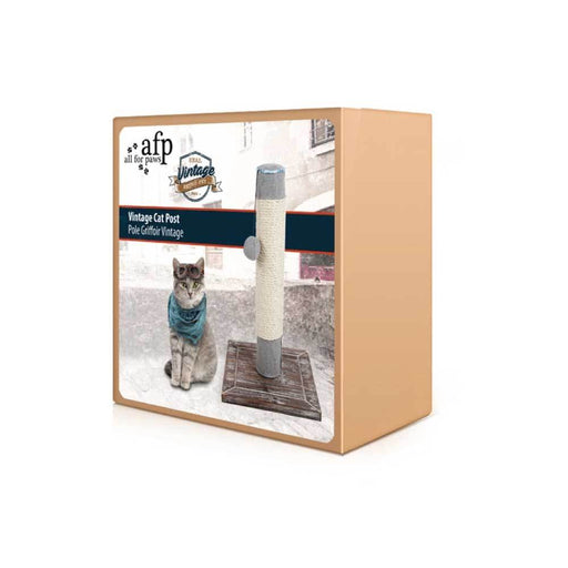 54cm Cat Post Scratcher - Vintage All For Paws Kitten Scratching Pole Tower Tree-All For Paws-ozdingo