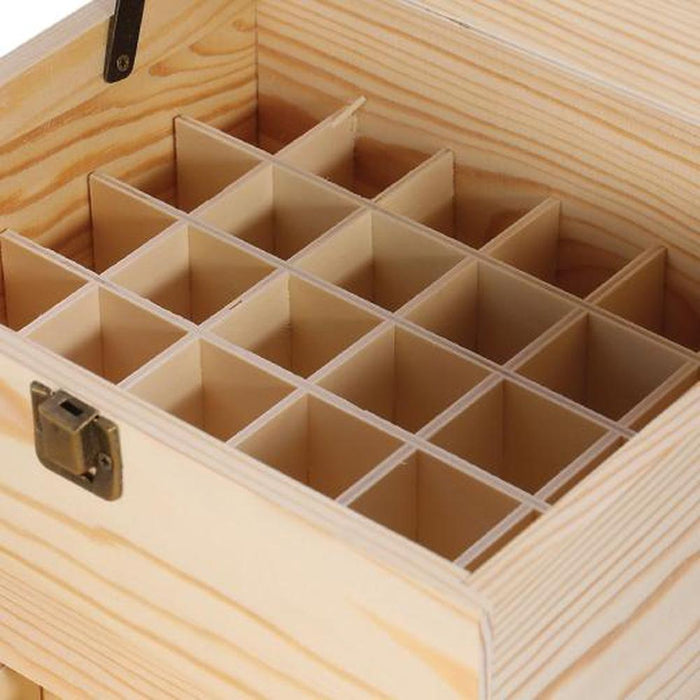 Essential Oils Wood Storage Box | 59 Slots 3-Tier Fits 5ml 10ml 15ml Bottles, Essential Oils, Plant Soul - ozdingo
