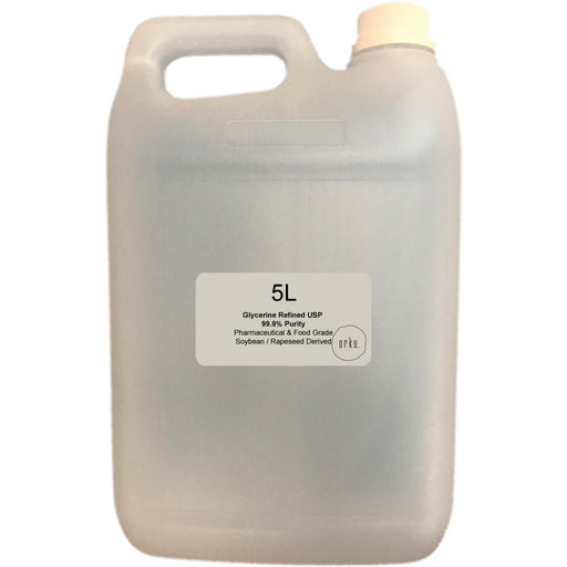 5L Glycerine Refined USP 99.9% Glycerol Pharmaceutical Vegetable Soybean Rapeseed-Orku-ozdingo