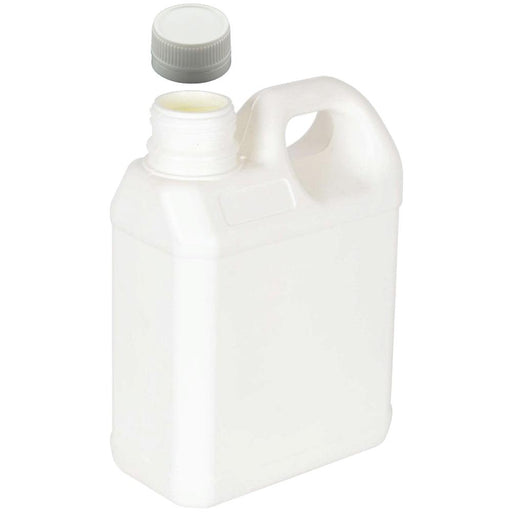 5L White Plastic HDPE Jerry Can Bottle Wadded Cap Tamper Tell Evident-Eco Storage-ozdingo