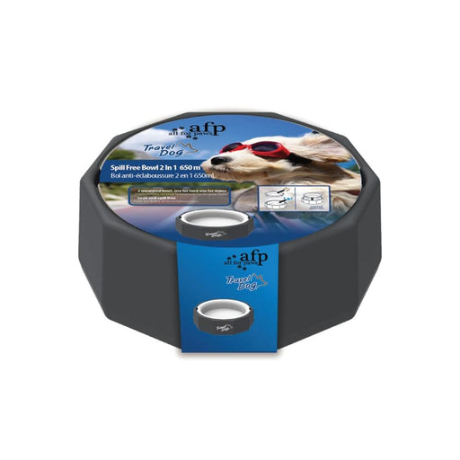 650ml Dog Bowl Spill Free Food Water 2 In 1 Large No Leak Feeding Drinking Bowls-All For Paws-ozdingo