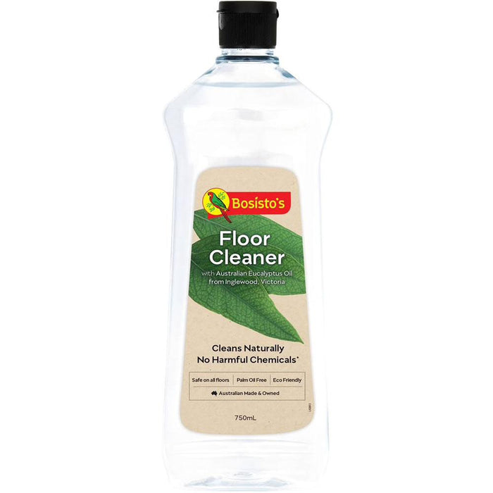 750ml Floor Cleaner Bosisto's Natural Eucalyptus Oil Wood Tile Marble Granite-Bosisto's-ozdingo
