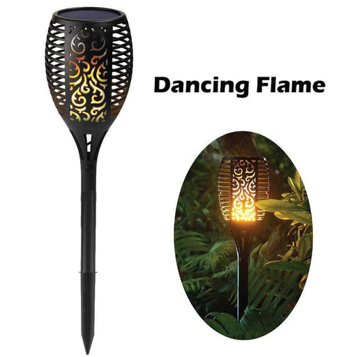96x LED Solar Garden Torch Outdoor Flame Dancing Flickering Light Auto Lamp-Gardeon-ozdingo