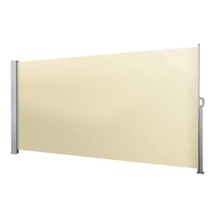 Instahut Retractable Side Awning Shade 2 x 3m - Beige