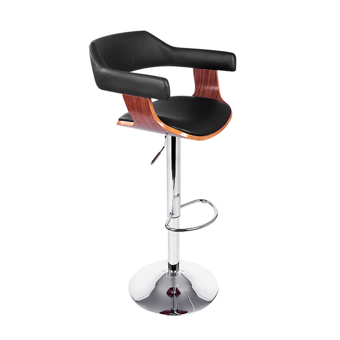 Artiss Wooden Bar Stool - Black