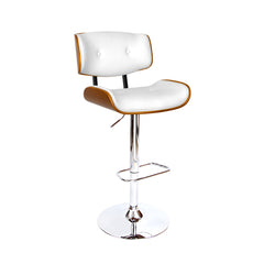 Artiss Wooden Gas Lift  Bar Stools - White
