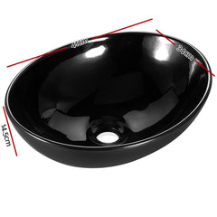 Cefito Ceramic Oval Sink Bowl - Black
