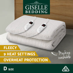 Giselle Bedding 9 Setting Fully Fitted Electric Blanket - Double