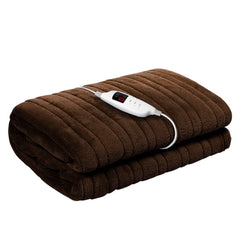 Giselle Bedding Electric Throw Blanket - Chocolate