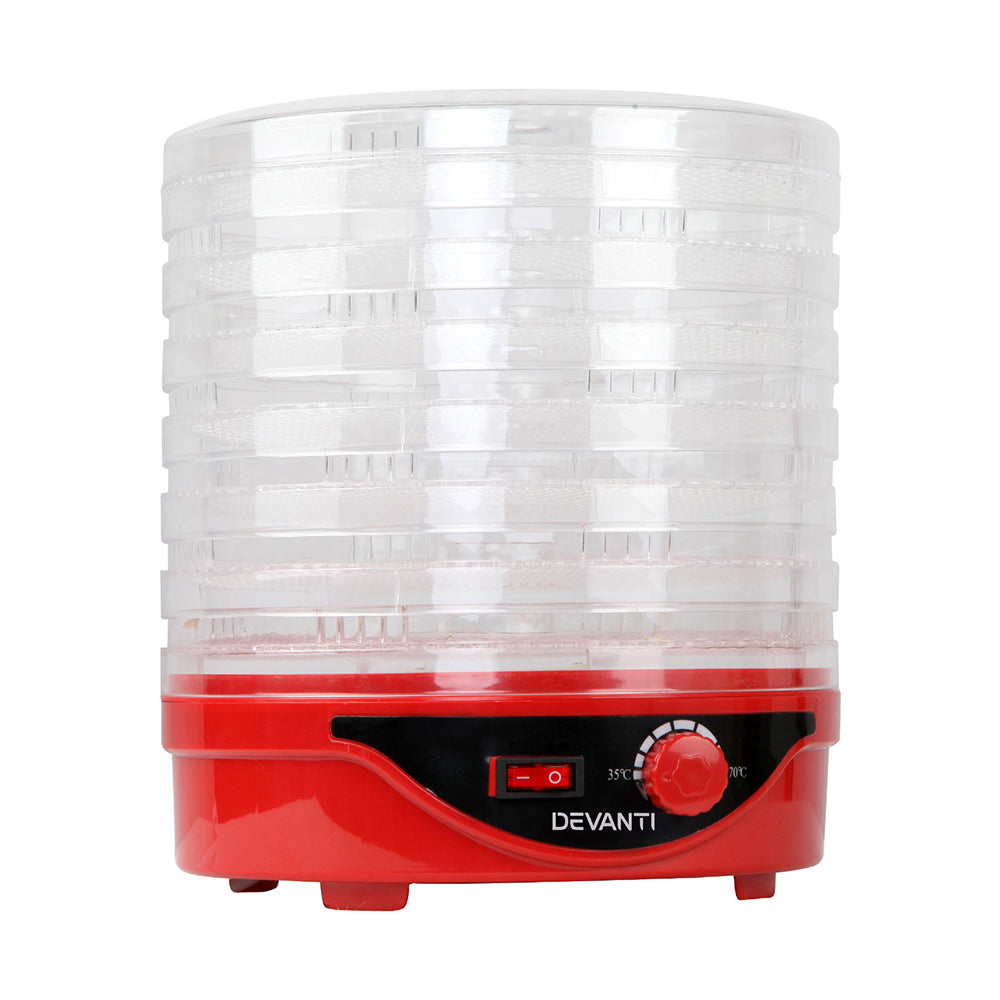 5 Star Chef Food Dehydrator with 7 Trays - Red