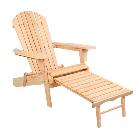 Gardeon Outdoor Adirondack Wooden Beach Chair