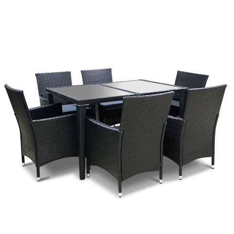 Gardeon Outdoor Furniture 7pcs Dining Set
