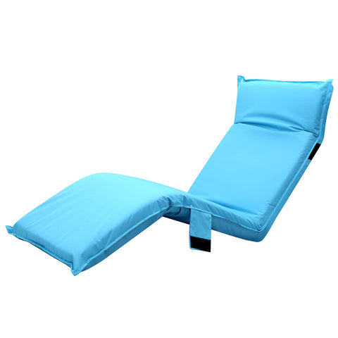 Artiss Adjustable Beach Sun Pool Lounger - Blue