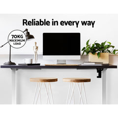 Motorised Adjustable Desk Frame White