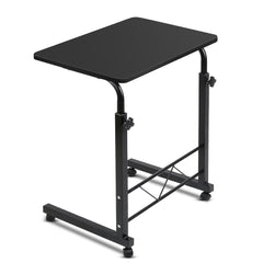 Portable Adjustable Wooden Latpop Stand - Black