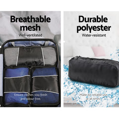 Wanderlite 8 Piece Luggage Organiser Travel Bags