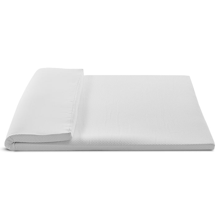 Giselle Bedding Memory Foam Mattress Topper w/Cover 8cm - Single