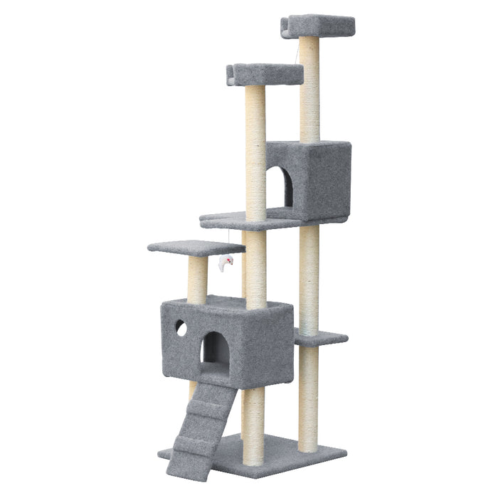 i.Pet Cat Scratching Tree 170CM Scratcher Post Pole Furniture Toy Multi Level