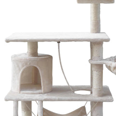 i.Pet 141cm Cat Scratching Post - Beige