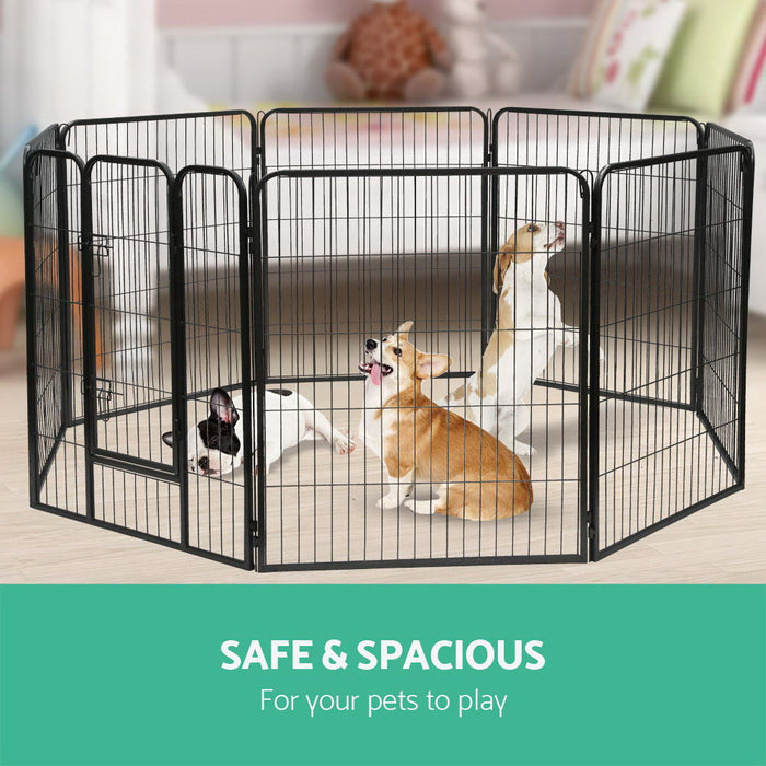 i.Pet 8 Panel Pet Dog Playpen Puppy Exercise Cage Enclosure Fence Play Pen 80x100cm