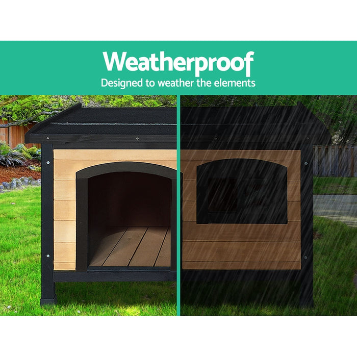 i.Pet Medium Wooden Pet Kennel