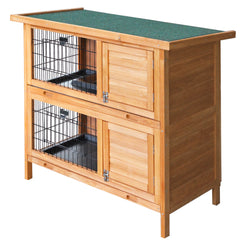 i.Pet 2 Storey Wooden Rabbit Hutch