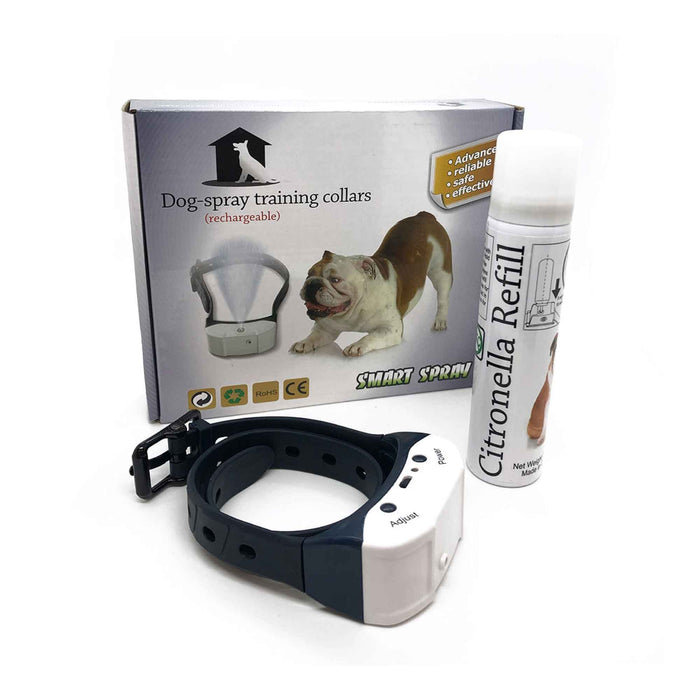 Rechargeable Citronella Dog Collar | Stop Barking Spray Mist Training Anti Bark