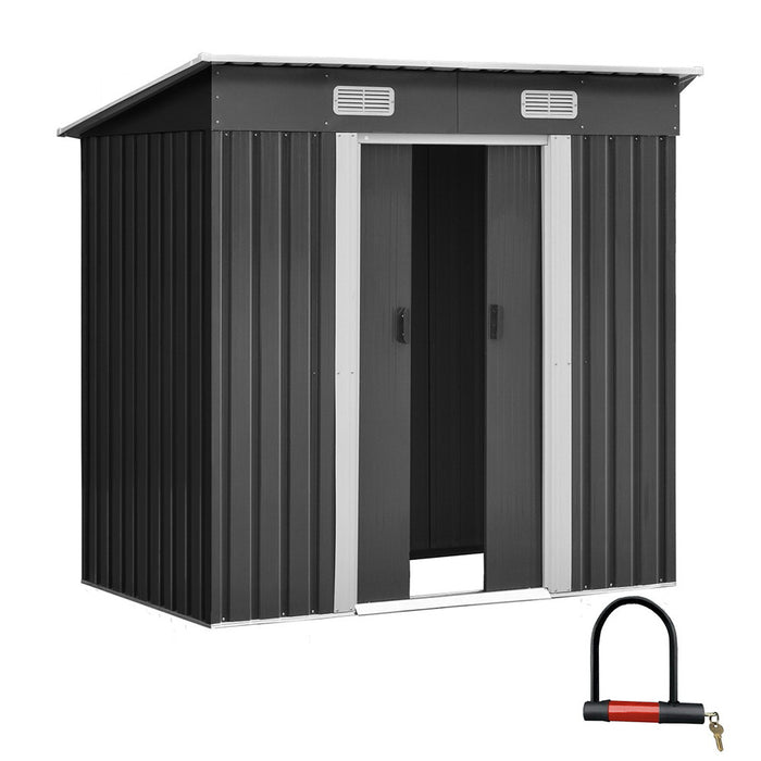 Giantz 1.94 x 1.21m metal Tool Shed - Grey