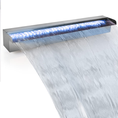 Gardeon LED Light Water Blade Feature Waterfall 60cm