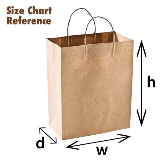 Brown Paper Bag Kraft Eco Recyclable Reusable Gift Carry Shopping Retail Bags, Storage, Eco Bags - ozdingo