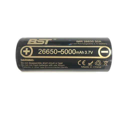 BST IMR 26650 50A 5000mAh 3.7V Rechargeable Lithium Battery Li Ion Batteries-BST-ozdingo