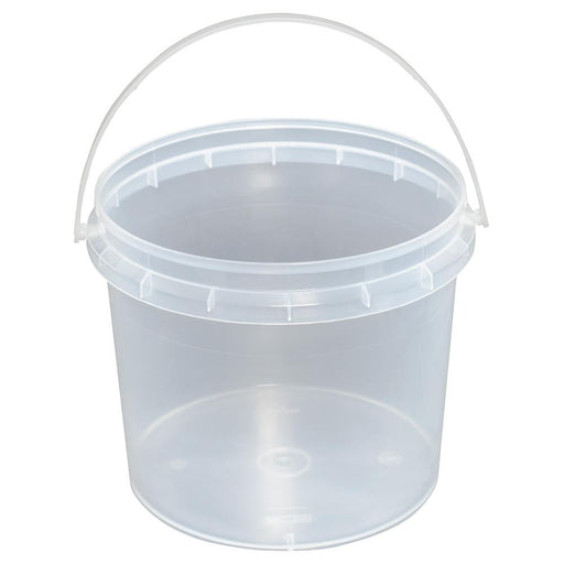 Bulk 10x 1.2L Buckets Plastic Empty Clear Food Grade Lid Handle Storage Pail Tub-Eco Storage-ozdingo
