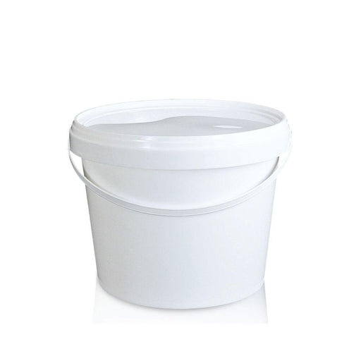 Bulk 10x 2L Buckets Plastic Empty White Food Grade Handle Lid Small Storage Pail-Eco Storage-ozdingo