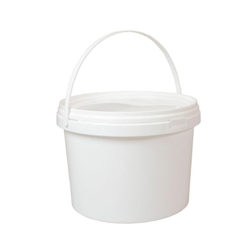 Bulk 10x 5L Buckets Empty Plastic White Food Grade Handle Lid Large Storage Pail-Eco Storage-ozdingo