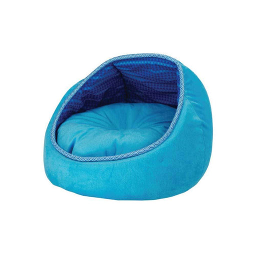 Cat Bed Fleece Blue Monaco Lounge Couch Cave Plush Cushion Pet All For Paws AFP-All For Paws-ozdingo