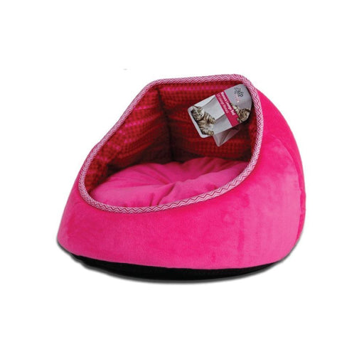 Cat Bed Fleece Pink Monaco Lounge Couch Cave Plush Cushion Pet All For Paws AFP-All For Paws-ozdingo
