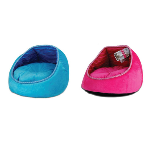 Cat Bed Monaco Lounge Blue Pink Fleece Couch Cave Plush Cushion Pet All For Paws-All For Paws-ozdingo