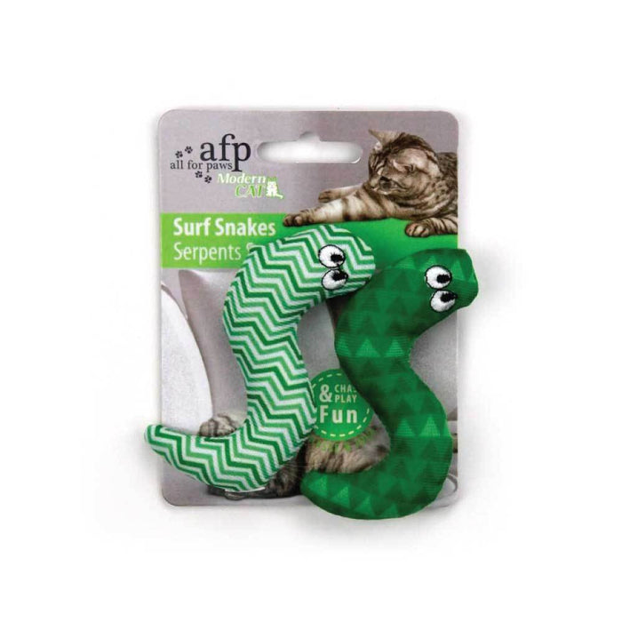 Catnip Cat Toy Surf Snake All For Paws Pet Chase 9cm Crinkle Snakes Toys Teaser-All For Paws-ozdingo