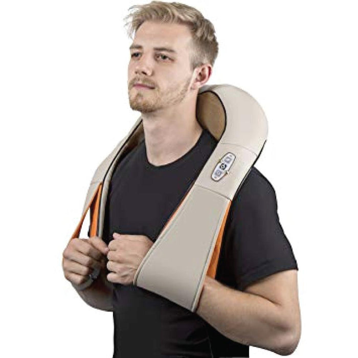 Cervical Massager Neck Shoulders Body Heat Knead Shiatsu Massage Car Home Office-Puli Massagers-ozdingo