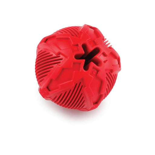 Dog Ball Extra Durable Treats Red Rubber Fetch Chase Aggressive Chewer AFP-All For Paws-ozdingo