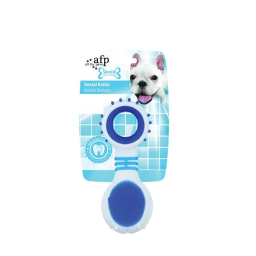 Dog Dental Rattle Blue Teething Rubber Chew Flexible Rigid Clean Teeth Gum AFP-All For Paws-ozdingo