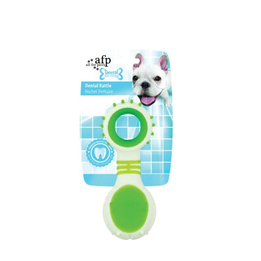 Dog Dental Rattle Green Teething Rubber Chew Flexible Rigid Clean Teeth Gum AFP-All For Paws-ozdingo