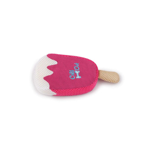 Dog Drinking Sponge Soak Strawberry Ice Cream Shape Chew Play Toy AFP Pink-All For Paws-ozdingo