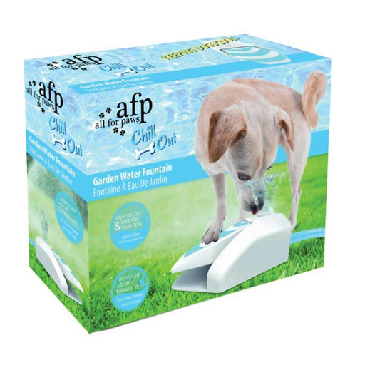 Dog Drinking Water Fountain Outdoor AFP Garden Push On Pet Sprinkler Dispenser-All For Paws-ozdingo