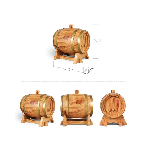 Essential Oil Aroma Diffuser Barrel Wood Design 350ml Ultrasonic Mist Humidifier-GX Diffusers-ozdingo