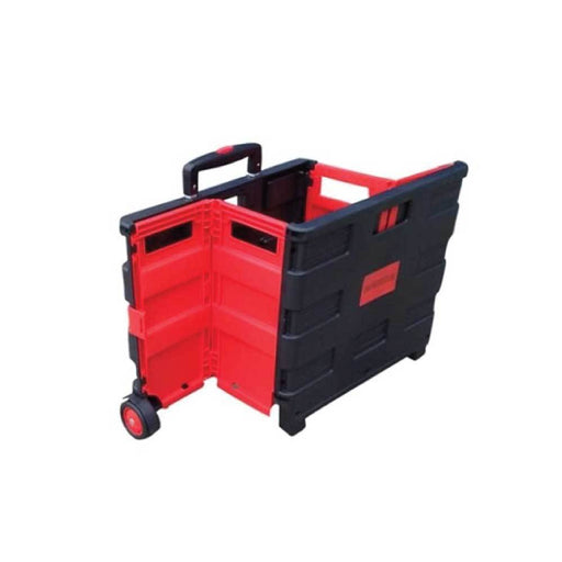 Foldable Shopping Cart Portable Collapsible Folding Wheel Grocery Trolley Crate-Shopping Tools-ozdingo