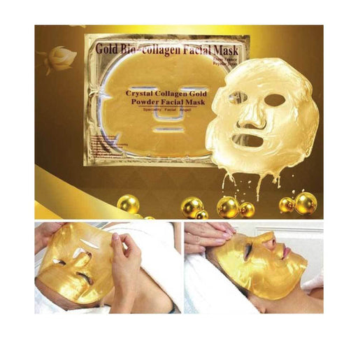 Gold Bio Collagen Facial Mask Lifting Anti-Ageing Whitening Firming Skin Powder-Gold-ozdingo